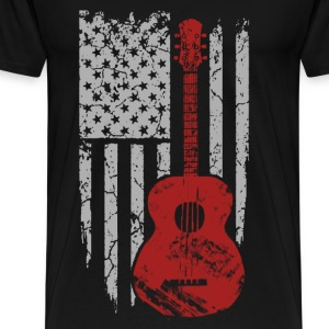 Guitar player - American flag T-shirt - Men's Premium T-Shirt