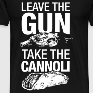 Godfather - Leave the gun, take the cannoli - Men's Premium T-Shirt