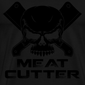 Meat cutter - Skull warning T-shirt - Men's Premium T-Shirt