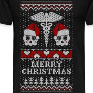 Santa Nursing - Ugly Christmas sweater - Men's Premium T-Shirt