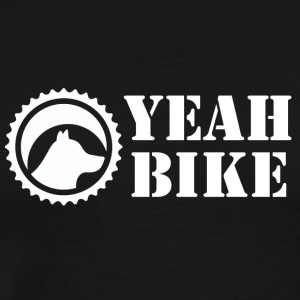 Yeah Bike white - Men's Premium T-Shirt