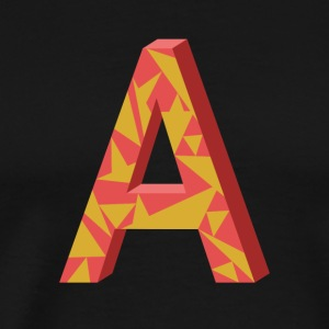 Letter A 3D Design - Men's Premium T-Shirt