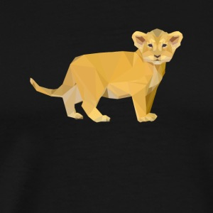 Adorable Lion Cub Triangular Design - Men's Premium T-Shirt