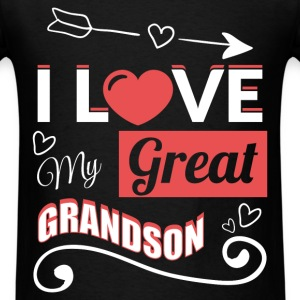 I love my great grandson - Men's T-Shirt