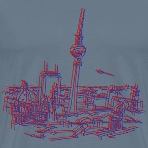 Panorama of Berlin 3D - Men's Premium T-Shirt