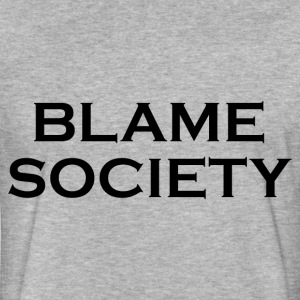 BLAME SOCIETY T-Shirts - Fitted Cotton/Poly T-Shirt by Next Level