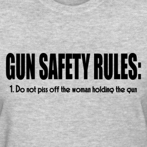 GUN SAFETY RULES T-Shirts - Women's T-Shirt