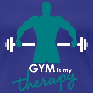 GYM is my therapy - Women's Premium T-Shirt
