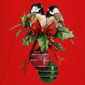 Beautiful Vintage Christmas Birds - Kids' Premium Long Sleeve T-Shirt