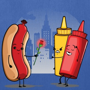 Hot Dog Love Ketchup Bags & backpacks - Tote Bag