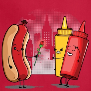 Hot Dog Love Ketchup Aprons - Adjustable Apron