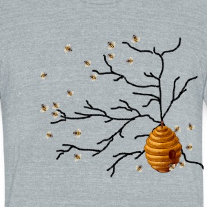 Honey Bees T-Shirts - Unisex Tri-Blend T-Shirt by American Apparel
