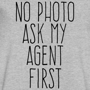 no photo ask my agent T-Shirts - Men's V-Neck T-Shirt by Canvas