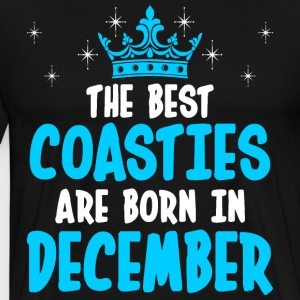 The Best Coasties Are Born In December T-Shirts - Men's Premium T-Shirt
