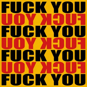 Mirrored text pattern symbol fuck you off logo des T-Shirts - Men's Premium T-Shirt