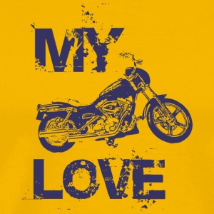 My love is motorcycle - Men's Premium T-Shirt