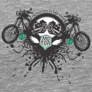 The true life on two wheels - Men's Premium T-Shirt