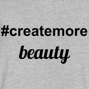 #createmore beauty - Men's V-Neck T-Shirt by Canvas