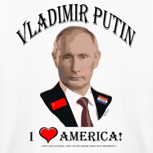 PUTIN:  I LOVE AMERICA! (Satire!) Kids' Shirts - Kids' Long Sleeve T-Shirt