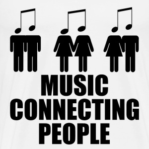 MUSIC CONNECTING PEOPLE 1.png T-Shirts - Men's Premium T-Shirt