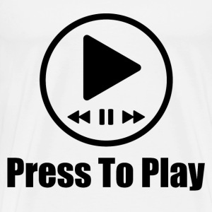 press to play music 1.png T-Shirts - Men's Premium T-Shirt