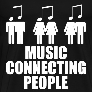 MUSIC CONNECTING PEOPLE 2.png T-Shirts - Men's Premium T-Shirt