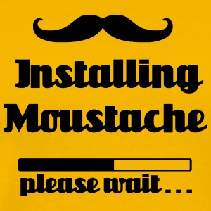 Installing moustache beard, please wait loading - Men's Premium T-Shirt