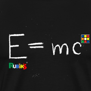 Rubik's Cube Theory Of Relativity Formula white - Men's Premium T-Shirt