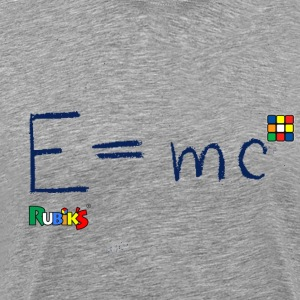 Rubik's Cube Formula Theory Of Relativity Blue - Men's Premium T-Shirt