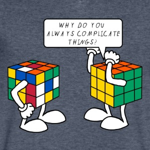 Rubik's Cube Complicate Things - Men's V-Neck T-Shirt by Canvas