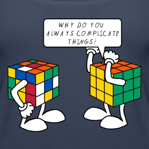 Rubik's Cube Complicate Things - Women's Premium Tank Top