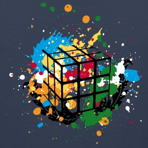 Rubik's Cube Colourful Splatters - Men's Premium Tank