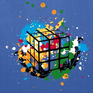 Rubik's Cube Colourful Splatters - Tote Bag