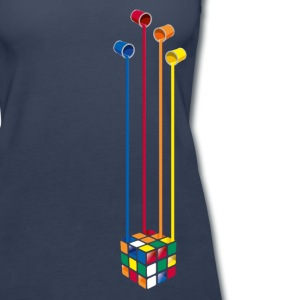 Rubik's Cube Colourful Paint Buckets - Women's Premium Tank Top
