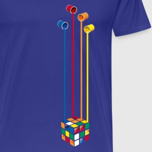 Rubik's Cube Colourful Paint Buckets - Men's Premium T-Shirt