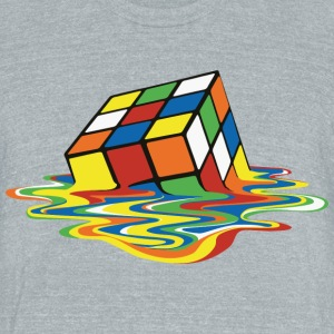 Rubik's Cube Melting Cube - Unisex Tri-Blend T-Shirt by American Apparel
