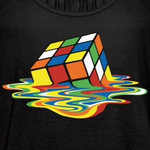 Rubik's Cube Melting Cube - Women's Flowy Tank Top by Bella
