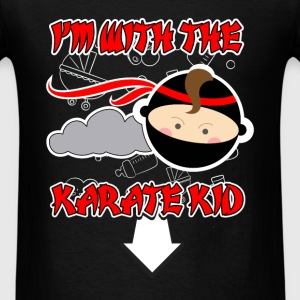 I'm with the karate kid  - Men's T-Shirt