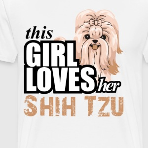 This Girl Loves Her Shih Tzu T-Shirts - Men's Premium T-Shirt