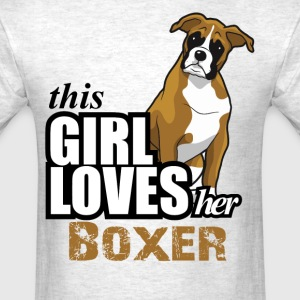 this girl loves her boxer T-Shirts - Men's T-Shirt