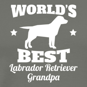 Worlds Best Labrador Retriever Grandpa - Men's Premium T-Shirt
