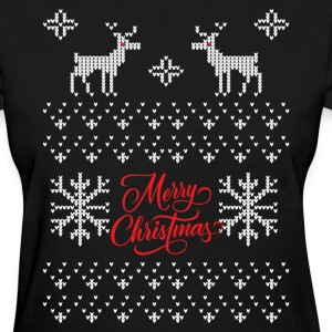 Ugly Sweater Merry Christmas T-Shirts - Women's T-Shirt