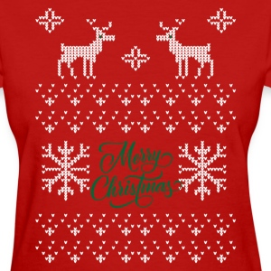 Merry Christmas Ugly Sweater T-Shirts - Women's T-Shirt