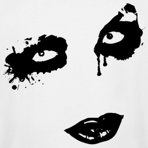 Face Gothic Zombie T-Shirts - Men's Tall T-Shirt