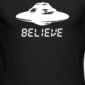 ufo believe - Men's Long Sleeve T-Shirt by Next Level