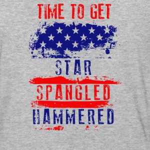 Time To Get Star Spangled Hammered Flug - Baseball T-Shirt