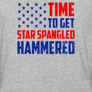 Time To Get Star Spangled Hammered - Baseball T-Shirt