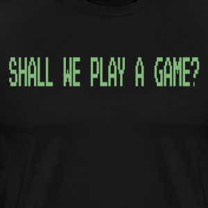 Wargames - Shall We Play A Game? T-Shirts - Men's Premium T-Shirt