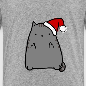 Christmas Kitty Middle Fingers - Toddler Premium T-Shirt