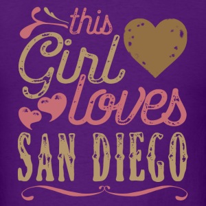 This Girl Loves San Diego T-Shirts - Men's T-Shirt